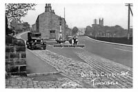 pt1547 - Car on Old Road & Church , Tintwhistle , Cheshire - photograph