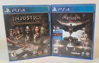 Batman Arkham Knight  + injustice gods among us Ps4 Sony PlayStation 4 Game Lot