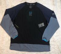 Nike Element Training Running Top Shirt Mens Size L Large Black Long Sleeve NWT