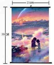 Anime kimi no na wa Your Name Wall Poster Scroll  Cosplay 1095