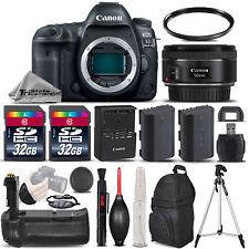 Canon EOS 5D Mark IV DSLR Camera GPS+ 50mm 1.8 + BATT GRIP + EXT BATT - 64GB KIT