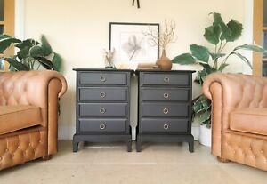 Black Stag Minstrel bedside tables / drawers - industrial/urban