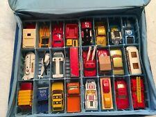 24 Vintage Matchbox Cars Lesney England Superfast 1970's Cars Trucks Fire Case