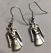 Trench Coat Charm Earrings Fashion Frock Apparel Designer Gown Cloth Dress 3D