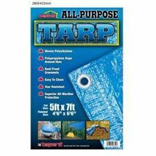 All-Purpose Waterproof All Weather Protective Polyethylene Blue Tarp