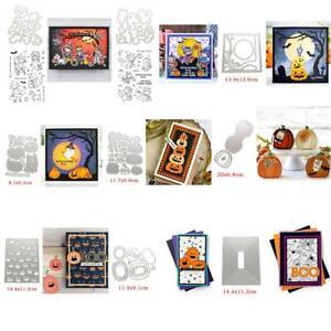 Halloween Witch Pumpkin Metal Cutting Dies Clear Stamps Diy Scrapbooking Crafts