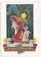 Werbe Ak Weihnachtsmann Christkind Sparbuch Dresdner Handelsbank Bautzen 1935/40
