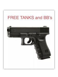 Umarex Glock 19 Gen 3 .177 Caliber CO2 Powered BB Air Gun FREE TANKS and BBs!!!!