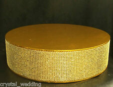 """Crystal Diamante Cake Stand Display 4.5"""" Deep SILVER GOLD ROSE GOLD - 10"""" - 20"""""""