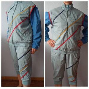 ADIDAS Womens Ski Suit Jecket Bib Pants Size XL Vintage West Germany