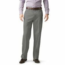 Mens DOCKERS No-iron Dress-casual Pants Wrinkle Khakis Flat Front Regular 38 32 Gray