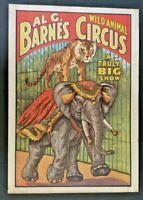 1960 Al G Barnes Circus World Museum Wild Animal Poster  Elephant Vintage Z1