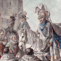 Gravure XVIIIe Henri IV  Henri De Bourbon 1594  Remise Clés Paris Lhuillier 1792