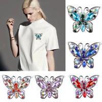 Wedding Bridal Rhinestone Crystal Vintage Butterfly Brooch Pin Brooches