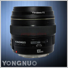 Yongnuo EF YN100MM F2 AF/MF Medium Telephoto Prime Lens Large Aperture for Canon