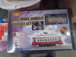 Baltimore Transit Trolley Set Rail King O Gauge MTH, Brand new in Box SEALED
