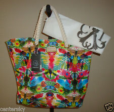 New $88 Christian Lacroix CXL Large Rope Handle Tote Bag & Dust Bag Amaryllis