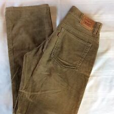 Levis 505 Womens Jeans Straight Leg Size 12 M Brown Lower Rise Soft Suede Feel