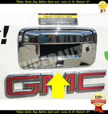 For 2014-2018 Chevy Silverado Chrome Tailgate COVER with Camera 1500 2500 3500HD