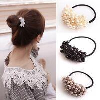Woven Perlen Elastisches Haar Ring Haargummi Stirnband für Frauen Haarschmuck