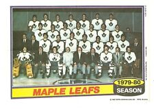 1980-81 Topps Hockey Team Photo Mini Poster Pinup Toronto Maple Leafs Mint