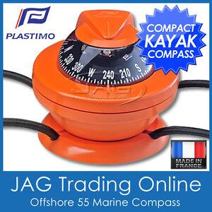 PLASTIMO OFFSHORE 55 KAYAK ORANGE COMPASS - Boat/Marine/Touring/Hiking/Orienteer