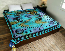 Mandala Multi Sun Color Print Tapestry Wall Hanging Decor Queen Size Bedspread