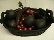 Bowl of Forbidden Rotten Fruit in basket Halloween Decor Prop