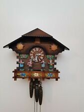 Animated Musical Chalet Cuckoo Clock with Dancing Musicians fully functional