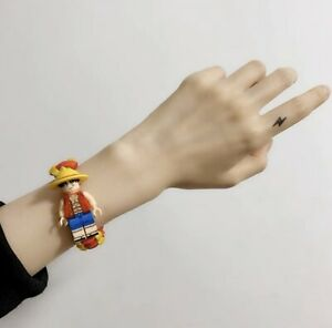 *NEW*-  Monkey D Luffy - One Piece Hero Block Minifigure Hand rope Bracelet