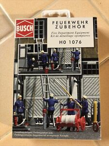 HO 1:87 Busch 1076 Basic Fire Department Equipment DETAIL KIT **NIB**
