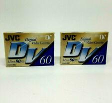 JVC Digital Video Cassettes Lot of 2 DVM60ME