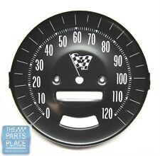 1965 Pontiac GTO OE Factory Steel Speedometer Face With Rally Gauges