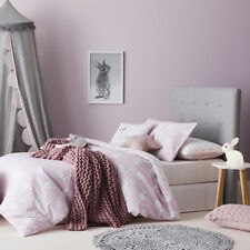 ADAIRS KIDS DOUBLE BED QUILT COVER + PILLOWCASES SET RRP$99.99 BESSIE BUNNY PINK