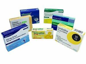 Cetirizine Hydrochloride 10mg and Loratadine Non Drowsy Hayfever Relief Tablets