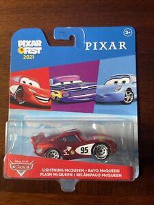 Disney Pixar Cars Pixar Fest 2021 Metallic Lightning McQueen Metal Car NEW!