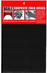 Scale Motorsport 1/12 Comp. Carbon Fiber Decal Black on Pewter 1012 x