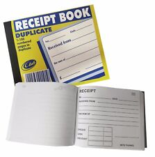 Club Duplicate Receipt Book With Carbon Sheet. Compact: 125mm x 105mm. 100 Sets.