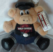 Harley Davidson Hog Plush Toy Stuffed Animal Pig New with Tags RARE Vintage 1993