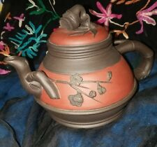 Chinese Yixing Tea Pot Zisha Clay Hand-carved Teapot Kettle Marked
