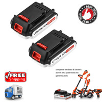 2 Pack Replacement 20V Max 2.0Ah Lithium Ion Battery Craftsman Quick Charger