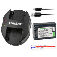 Kastar Battery Dual Charger for Sony NP-FV30 Sony HDR-CX200 HDR-CX210 HDR-CX220