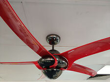 "Vento Uragano 54"" indoor fan red blades and gun metal body"