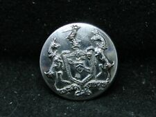 New listing Sir Walter Stirling, Baronet, Coat Of Arms w Supporters 17mm Livery Cuff Button