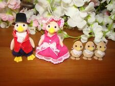 Sylvanian Families Vintage Waddlington Duck Family Mayor With Babies Ducks Rare