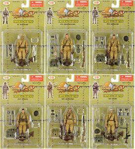 Japanese Marines Squad of Six: Set of Six 1:18 Scale NLF Marines
