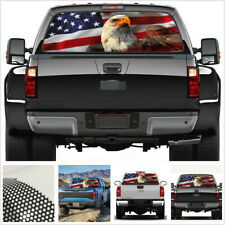 Car Rear Window Label USA eagle tuning united states flag Sticker decal 135*36cm