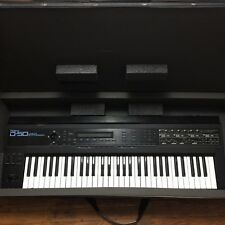 Roland D-50 Linear Synthesizer Vintage 61 Keyboard W/Manuals Cord & Case Works