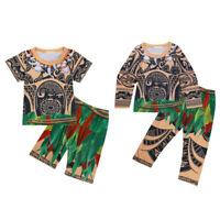 Children Baby Costume Kids Boys Pajamas Maui Outfits Cosplay Pajamas Sleepwear