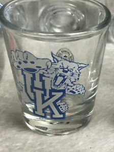 University of Kentucky Wildcats 2 oz Shot Glass NEW